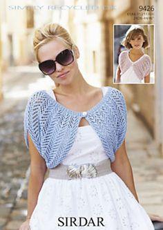 An effect bolero easy to achieve. The bolero lenght: 22 – 26 – 30 – 32 – Crochet Shrug Pattern Free, Bolero Pattern, Knit Shrug, Free Pattern, Lace Knitting, Knit Crochet, Knitting Patterns, Shrugs And Boleros, Short Beach Dresses