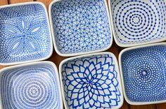 DIY hand-painted ceramic tealight holders   Flickr - Photo Sharing!