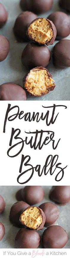 The best peanut butter balls recipe—it uses rice krispies in the mix! It's the most popular post on the blog and uses only five ingredients. | @haleydwilliams