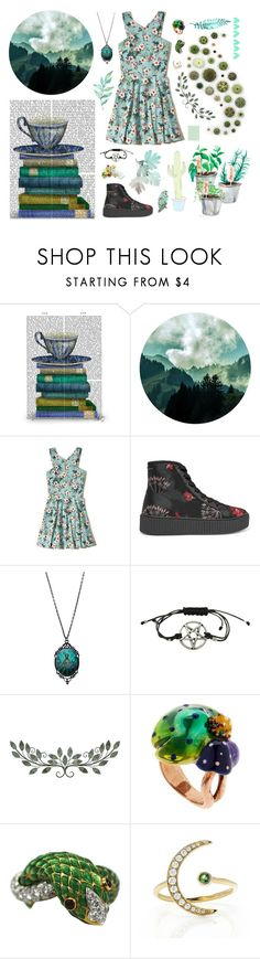 """dust"" by stopcallinme ❤ liked on Polyvore featuring FabFunky, Hollister Co., MM6 Maison Margiela, Hot Topic, Vernissage, David Webb and EF Collection"