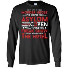 AHS Murder House, Asylum, Coven, Freak Show, Hotel Shirt -01 LS Ultra Cotton Tshirt