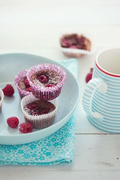 Chocolate and Raspberry Financiers.  #Recipes #Gluten-Free