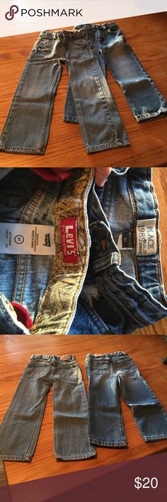 4T boys jeans - 2 pair Levis 514 slim straight & the childrens place bootcut. Like new Levi's & The Childrens Place Bottoms Jeans