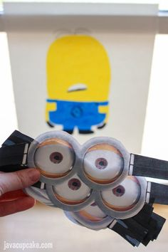 Minion Birthday Party Ideas: Pin the Goggles on the Minion Game by Java Cupcake