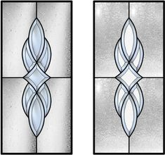The 7 Piece Beveled Glass Cluster in this design has a large Star Bevel in the center.  The image on the right shows the Glue Chip Beveled g...