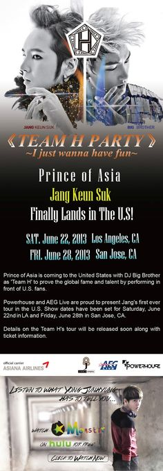 Stay tuned for more details eels!!@POWERHOUSELIVEYES! JANG KEUN SUK is coming to the U.S! he will be performing in Los Angeles (June 22nd) and in San Jose (June 28th)!@POWERHOUSELIVEStay tuned for information regarding ticket sales date and seating chart for JANG KEUN SUK visit http://powerhouselive