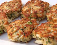 Maryland Crab Cakes ~ traditional Maryland lump crabmeat, mayo, dijon mustard, worcestershire, old bay, celery, parsley, bread crumbs; mix all together and bake.