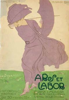 Edwardian poster, windy day with umbrella, 1900s