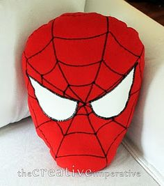 sew your own Spiderman pillow