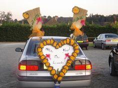 mon mariage orange et chocolat - Voiture Balai Mariage