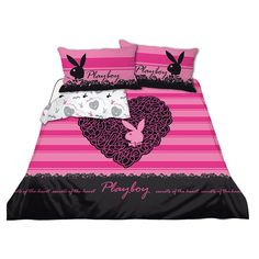 Playboy Bed Set - Home Furniture Design Boys Bedding Sets, Pink Bedding, Pink Bed Covers, Pink Bedroom Decor, Bedroom Ideas, Home Furniture, Furniture Design, Household Items, Pillow Cases