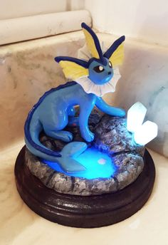 Light-Up Vaporeon Sculpture (READY TO SHIP)