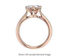 East-West Solitaire Engagement Ring in 14k Rose Gold | Blue Nile