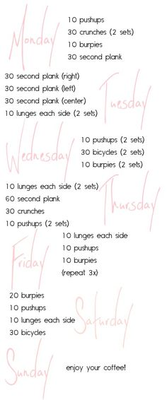 a workout i actually think i could do! via pushupswithpolish blog