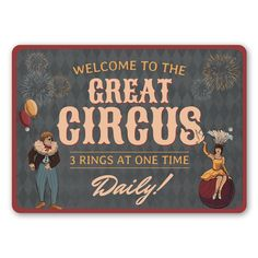 Great Circus Sign - 12 x 18 inches
