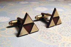 Bronze Triangle Cuff Links inspired by Triforce Zelda