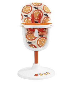 Cosatto 3Sixti Highchair - Orange Squash. The Highchair's Bright.Give us oranges, we make a statement supper spinner.