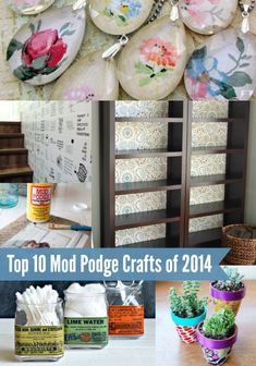 Have a jar of Mod Podge and aren't sure what to do with it? These top 10 Mod Podge craft ideas of 2014 are the perfect place to start!