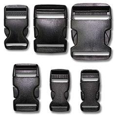 Contoured plastic buckles for dog collars $0.62 Single Adjust Side Release Buckles