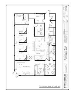 Physical therapy floor plan physical therapy center for Dental office design 1500 square feet
