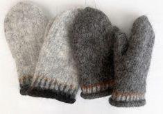 Huovutetut lapaset Léttlopi-langasta - kaksi versiota ja ohje Mittens, Knitting Patterns, Knit Crochet, Gloves, Socks, Sewing, Hats, Inspiration, Fashion