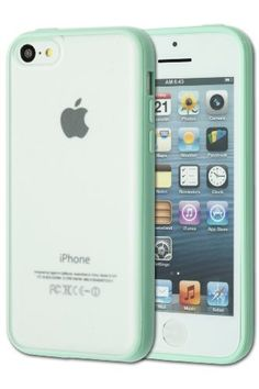TPU Bumper With Clear Frostedhard Back Case For Apple iPhone 5C - Mint Green + Screen Protector: Amazon.co.uk: Electronics