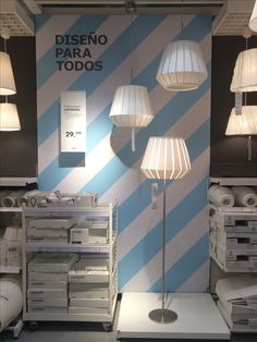 IKEA Alcorcon, Madrid, featured lighting series