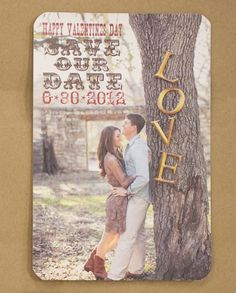 Rustic Vintage Save the Date DIY by PureParchment on Etsy, $15.00