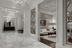 marble flooring 40 Stunning and Clean White Marble Floor Living Room Design Classic Interior, Home Interior Design, Home Floor Design, Interior Decorating, Living Room Designs, Living Room Decor, Marble Floor, Design Case, Luxury Living
