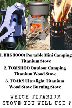 Campcookingsupplies Beautiful Boruit Camping Wood Stove Portable Outdoor Folding Titanium Wood Stove Burning For Backpacking Survival Cooking Picnic Hunting Easy To Repair Outdoor Stoves