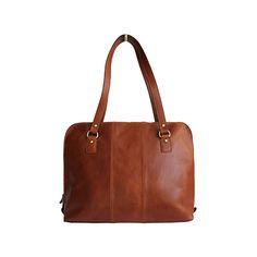 Carla Ladies Italian Brown Leather Laptop Briefcase Handbag - £119.99