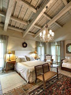 Bedroom - beautiful old house   via Elixir Undicilandia
