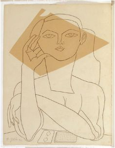 Portrait of Francoise Gilot, muse of Picasso