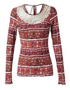 ASOS Fashion Finder | 'Scorpion' banjara embellished jersey top