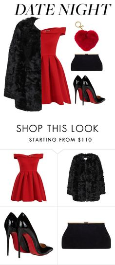 """""""Hot Date Night Style"""" by hideous ❤ liked on Polyvore featuring Chi Chi, MANGO, Christian Louboutin, Michael Kors, contest, formal and hotdatenightstyle"""