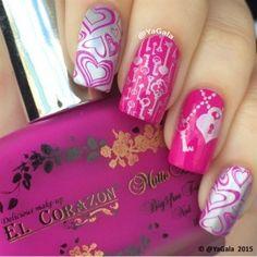valentine nails art nixia agiou valentinou