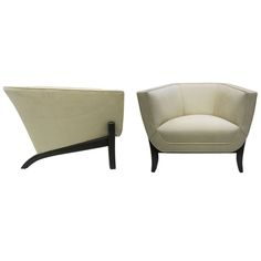 1stdibs - Elegant Faceted 1960s Barrel Chairs, Pair explore items from 1,700  global dealers at 1stdibs.com