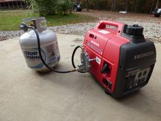 Propane conversion on Honda generator
