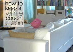 How To Keep A White Couch Clean