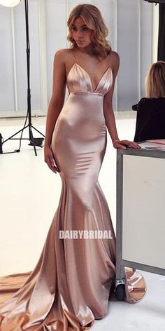 Simple Spaghetti Straps V-Neck Mermaid Sexy Backless Prom Dresses, Homecoming Dress Black, Beautiful Prom Dress, Prom Dress Short, Open Back Prom Dress Backless Prom Dresses, Grad Dresses, Satin Dresses, Ball Dresses, Bridesmaid Dresses, Formal Dresses, Wedding Dresses, Long Dresses, Ball Gowns