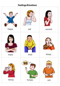 Feelings Flashcards - Use to help A be able to express how he is feeling rather than rage all the time. If you find this info graphic useful, please share, like or pin it for your friends. English Resources, English Tips, English Activities, English Lessons, Learn English, Kids English, English Words, English Grammar, Teaching English