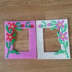 Flower frames hama beads by irene5000