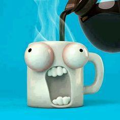 HAHA, what a coffee / tea cup :P I Love Coffee, Coffee Art, My Coffee, Coffee Drinks, Coffee Shop, Cappuccino Tassen, Cool Mugs, Coffee Humor, Funny Coffee