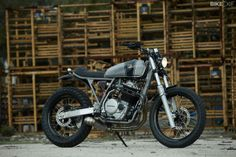 Cafe Racer Dreams's beautiful Honda XR600 custom. It's one of the stars of the 2014 Bike EXIF calendar, the world's best-selling custom motorcycle calendar. Get your copy from https://www.octanepress.com/book/bike-exif-custom-motorcycle-calendar-2014