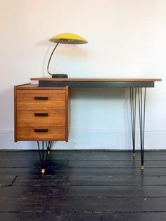 AreaNeo | Cees Braakman Hairpin-Leg Desk, made by Pastoe Netherlands 1950s