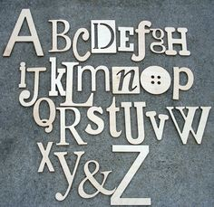 I really want these!  Unfinished Wooden Alphabet Set  Wooden Wall by GalleryWoodLetters, $85.00