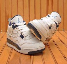 big sale ad69c 714d5 Nike Air Jordan 4 IV LS BP Size 12C - Legend Columbia Blue White - 707430