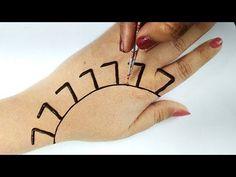 #numbermehndidesign - YouTube Mehandi Design For Hand, Mehandi Designs Easy, Simple Arabic Mehndi Designs, Indian Mehndi Designs, Back Hand Mehndi Designs, Mehndi Designs For Girls, Wedding Mehndi Designs, Mehndi Designs For Fingers, Mehndi Design Images