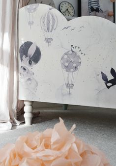 Bed panels for kids room  Mrs Mighetto + Pretty pegs = Pretty & Mighetto