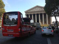 Paris Bus Panoramic Tour at Madeleine #Paris #France #CityTour #Panoramic #Tour #ParisTrip #Trip #Sightseeing #tours #visit #visite #travel #voyage #tourism #tourisme #bus #Commentary #Live #English #Discovery #Decouverte #OpenTop #Convertible #Glassroof Glass Roof, Paris Travel, Paris France, Discovery, Convertible, Tourism, English, Live, Madeleine